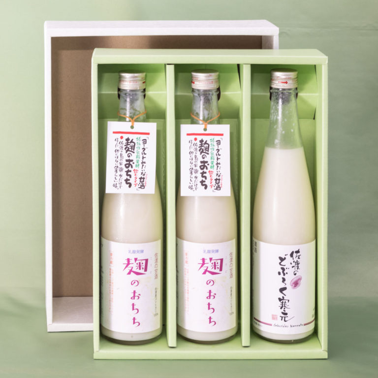 佐渡の甘酒 麹のおちち飲むタイプ2本 佐渡のどぶろく7度1本 (税込・送料込)